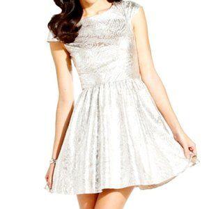 Hailey Logan By Adrienne Papell Metallic Dress